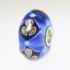 Blue & Glitter Bead