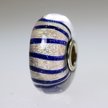 Blue Stripe Bead