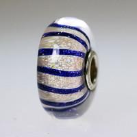 Blue Stripe Bead