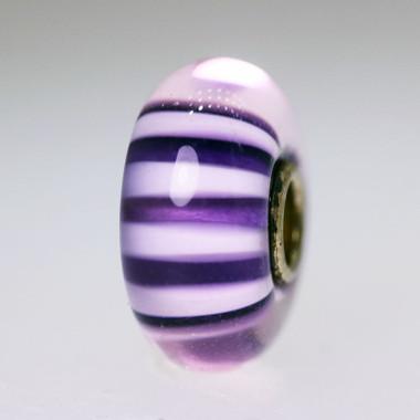 Purple stripe bead