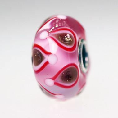 Pink & Glitter Unique Bead