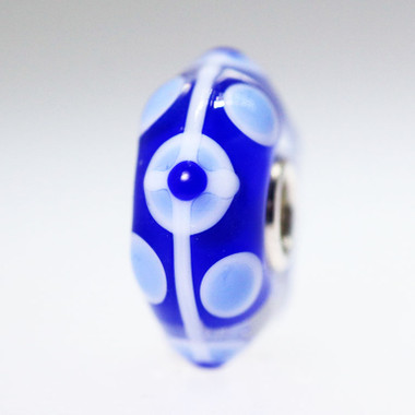 Blue and White Bead