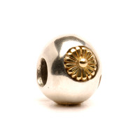 Sun Bead Silver and Gold Trollbeads