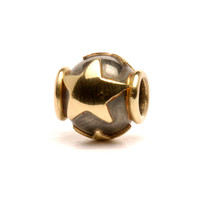Star Trollbeads In silver and 18K gold