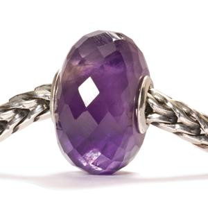 Amethyst Faceted Stone Trollbead on a Chain