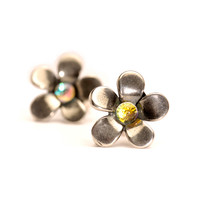 Silver Flower, Earrings