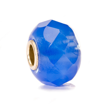 Denim Prism Faceted Glass Trollbeads