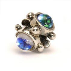 Trinity Glass and Silver Trollbeads