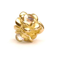 Three Flowers Bead, Gold Trollbeads