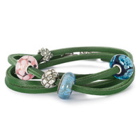 Green Leather Bracelet