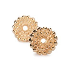Sun Circle, Small-Gold Plated Earring Components