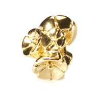 Forget Me Not Bead, Gold Trollbeads