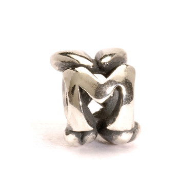Letter Bead M, Silver