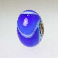 Blue Armadillo Trollbeads With A Twist