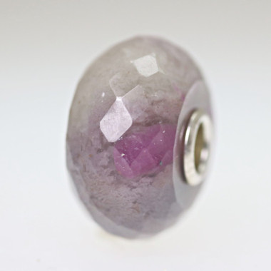 Ruby Rock Bead With A Twist