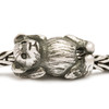 Hugging Bear Silver Trollbeads On a chain