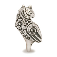 Decorative Bird Silver Trollbeads