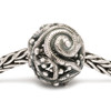 Silver Whorl Trollbeads on a chain