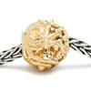 Gold Whorl Trollbeads on a chain