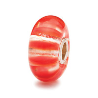 Coral Stripes Glass Trollbeads