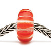Coral Stripes Glass Trollbead on a chain