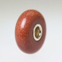 Goldstone Bead With A Twist