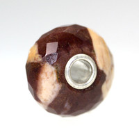 Faceted Zebra Jasper Twist Trollbeads