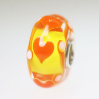 Orange Hearts Bead
