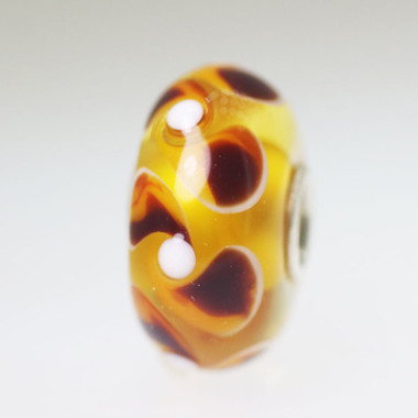 Light Orange Unique Bead