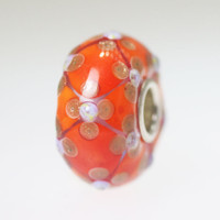 Orange Clover Design Bead