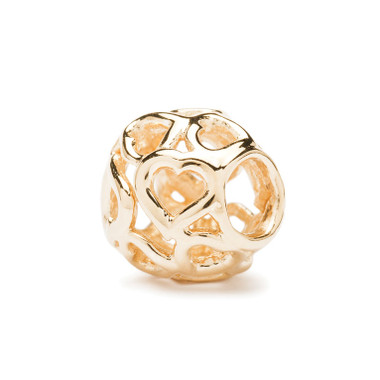 Bouquet of Hearts Gold Trollbeads