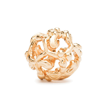 Gold Mistletoe Trollbeads