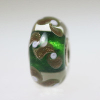 Green Bead With Glitter