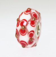 Red & White Unique Bead