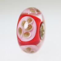 Red & Glitter Bead