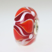 Red & White Unique Bead