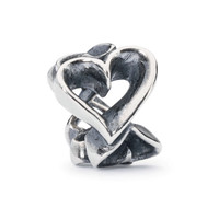 A Hearts Galore Bead Sterling Silver Trollbeads