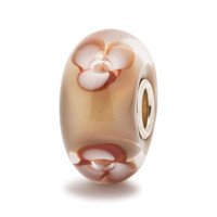 Cappucino Flower Glass Trollbeads