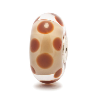 Chocolate Dot Trollbead Glass Group 1 Bead