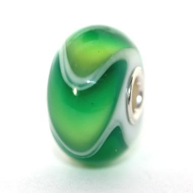Mixed Green Glass Armadillo Trollbeads