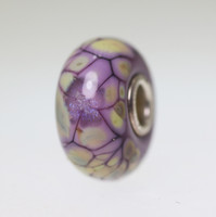 Purple Mosaic Flower Twist bead