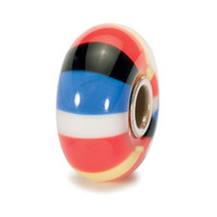 Africa World Tour Glass Striped Bead
