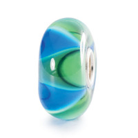 Mist Ripples Bead Green Blue Trollbead.