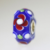 Trollbeads Unique Bead In Blue & Red