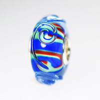 Blue & Red Ornament Bead