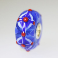 Red and Blue Unique Bead