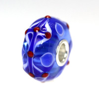 Blue Unique Bead Red Dots