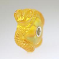 Light Amber Carved Snake Bead