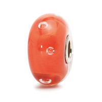 Peach Bubbles Glass Trollbeads