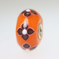 Orange Opaque Unique Bead